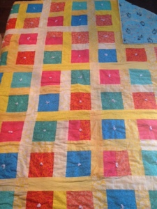 Hello.  It's difficult to tell from these pictures but I am also a reasonably sized quilt.