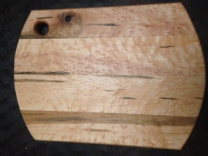 This is a heavily figured bird's eye mape cutting board.
